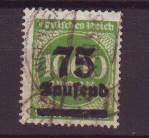 J13707 JLstamps 1923 germany used #252 ovpt wmk 126