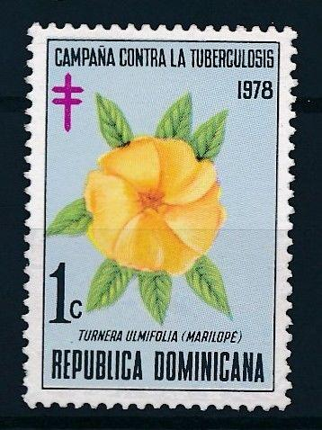 [62600] Dominican Republic 1978 Flora - Campaign against Tuberculosis  MNH