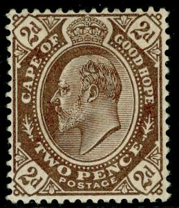 SOUTH AFRICA - Cape of Good Hope SG72, 2d Brown, LH MINT. Cat £24.