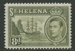 St.Helena - Scott 123A - KGVI Definitive -1938 - MVLH - Single 8p Stamp
