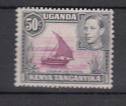 J25744 1938-54 kenya uganda - tanzania mlh #79a king/view perf 13 x 11 1/2