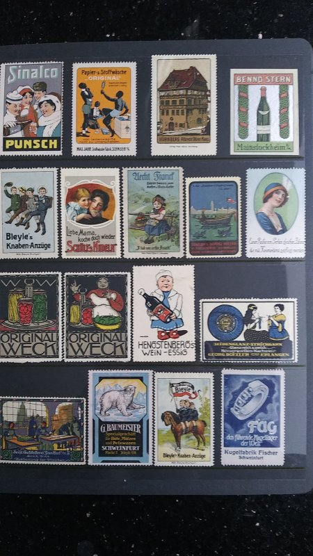 World Exhibition, Convention, Stamp Show, Poster, Label stamp Collection LOT #Q1