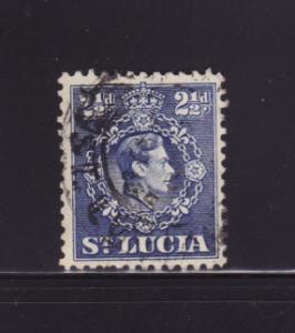 St Lucia 115 U King George VI