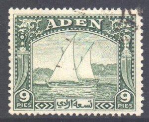 Aden Scott 2 - SG2, 1937 Dhow 9p used