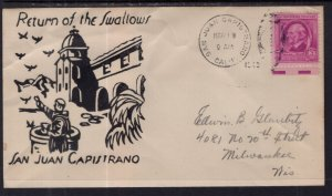 US Return of the Swallows,San Juan Capistrano 1948 Cover