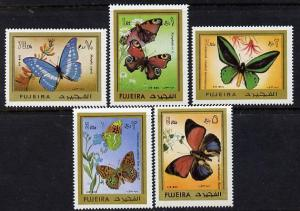 Fujeira 1971 Butterflies set of 5 unmounted mint, Mi 780-...