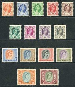 Rhodesia and Nyasaland SG1/26 (no 2 1/2d) U/M