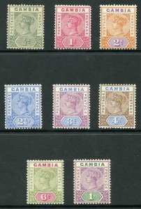 Gambia SG37/44 1898-1902 QV Wmk Crown CA Set of 8 M/M