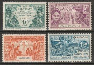 Gabon 1931 Sc 120-3 set MLH*/MH*
