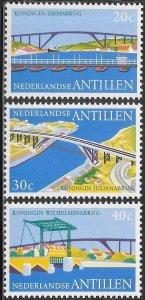 Netherlands Antilles (Curacao) 366-368 MNH - Queen Juliana Bridge
