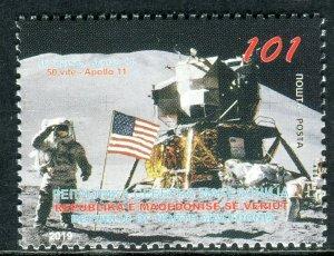 319 - MACEDONIA 2019 - Apolo 11 to the Moon - Space - Flag - MNH Set