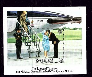 Swaziland 480 MNH 1985 Queen Mother Birthday S/S