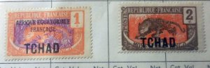 Middle Congo over printed TChad group of 2