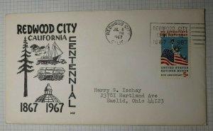 Redwood City CA Centennial WHJ 1967 Contents Event Cover