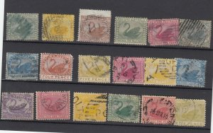Western Australia Unchecked Swan Collection Of 18 Fine Used JK6311