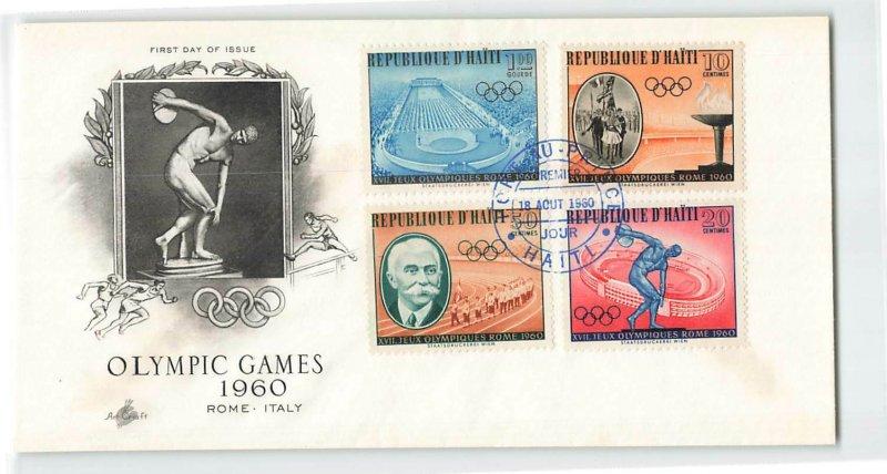 Haiti FDC Rome Olympics 1960 4 Stamps