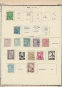 paraguay stamps page ref 17088