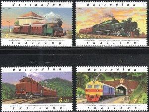 Thailand 1712-15 - Mint-NH - Trains / Railway (Cpl) (1997) (cv $2.65)