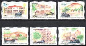 ANGOLA 1174-9 MNH SCV $8.50 BIN $5.10 HOMES, CARS (3)