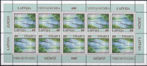 Latvia. 2001. Small sheet 544. Europe Landscape. MNH.
