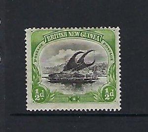 BRITISH NEW GUINEA SCOTT #1- 1901 1/2P (YELLOW GREEN)- MINT HINGED