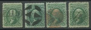 #68 FINE // F-VF (4) DIFF (1) WITH PAID & (1) RED CANCEL CV $232 AU902