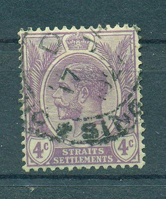 Straits Settlements sc# 184 (4) used cat value $.25