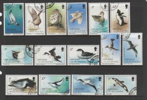South Georgia 1987 Bird defs VFU/CTO SG 161/75