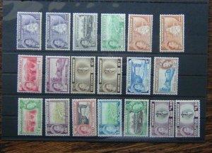 Montserrat 1953 - 1962 set to $4.80 x 2 MM Few MNH