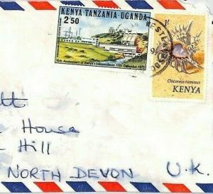 CE194 KENYA KUT Mixed Franking *WESTLANDS* 1974 Air Mail Cover SEA SHELLS