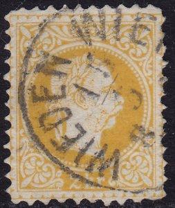Austria - 1876 - Scott #34b - used - Perf 10 1/2 - WIEDEN WIEN oval pmk