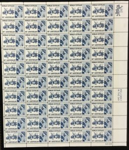 1406   Woman Suffrage 50th Anniversary  MNH 6 c Sheet of 50    FV $3.00   1970