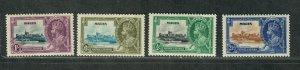 Malta Sc#184-187 M/H/VF, Silver Jubilee, Cv. $22