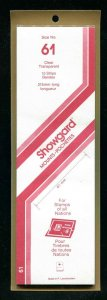 CLEAR Showgard Strip Mounts Size 61 = 61mm Fresh New Stock Unopened CLEAR