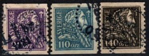 Sweden #194-6  F-VF Used CV $46.00  (X5676)