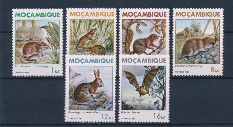 [60174] Mozambique 1983 Wild animals Mouse Hare Bat MLH