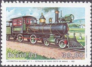 Brazil # 1863 mnh ~ 30cr Locomotive Ð Baldwin #1