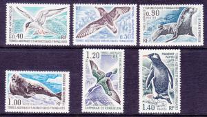 French Southern & Antarctic FSAT 58-63 MNH 1976 Antarctic Mammals & Birds