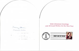 2003 37c Madonna & Child, J. Gossaert Scott 3820 First Day Cover Christmas Card