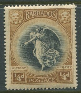 STAMP STATION PERTH Barbados #140 Victory Issue MNH Wmk 3 -1920