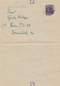 Germany Berlin 1948  Allied Occupation Stamps Letter Ref 32388