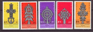 J22338 Jlstamps 1967 ethiopia set mh #492-6 crosses