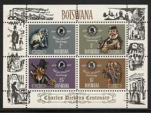 Botswana 65a 1970 Dickens s.s. NH