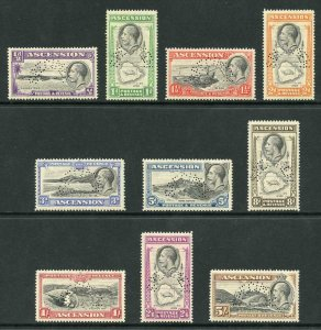 Ascension SG21s/30s 1934 Pictorial set of 10 to 5s perf SPECIMEN M/M