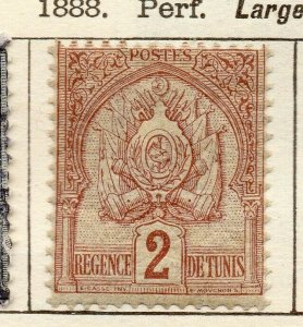 Tunis 1888 Early Issue Fine Mint Hinged 2c. NW-114580