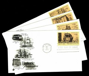 U.S. #1440-43 Historic Preservation First Day Covers - Set of 4 Covers (ESP#055)