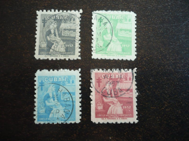 Stamps - Cuba - Scott# RA35-RA38 - Used Set of 4 Stamps