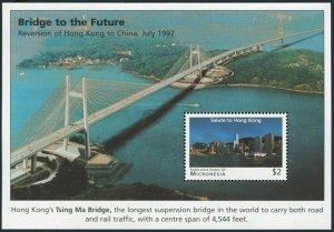 Micronesia 256,MNH.Michel 548 Bl.21. Reversion of Hong Kong to China,1997.Bridge