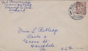 Ireland 2 1/2d Coat of Arms 1948 Mainistir Fhear Muighe to Honesdale, Penn.