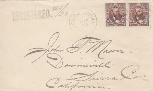 189X, French Corral to Downieville, CA, Registered, See Remark (30311)